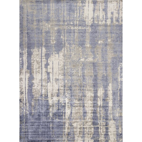 Sylvia Hand-Woven Gray/Blue Area Rug by Langley Street