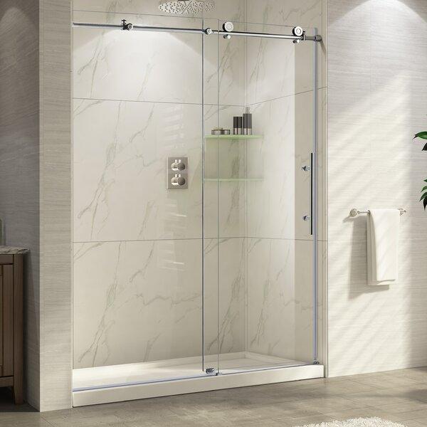 Trident 48'' x 76'' Single Sliding Frameless Shower Door by Wet Republic