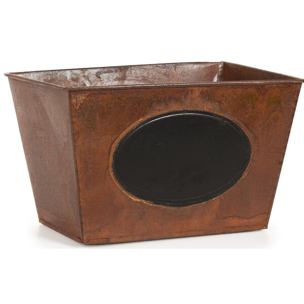 Ianthe Tin Rectangular Pot Planter Box by August Grove