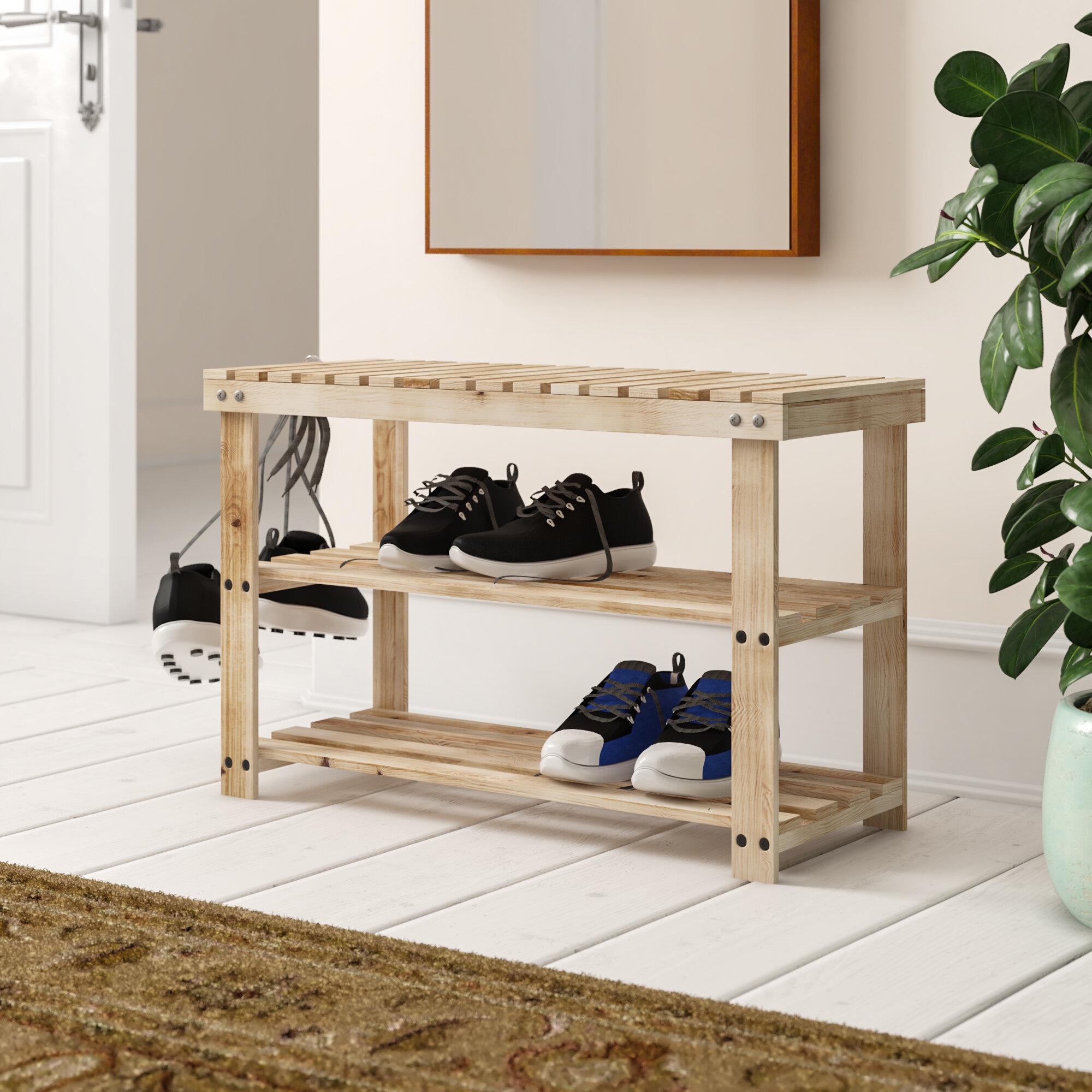 Symple Stuff 12 Pair Shoe Storage Bench Reviews Wayfair Co Uk