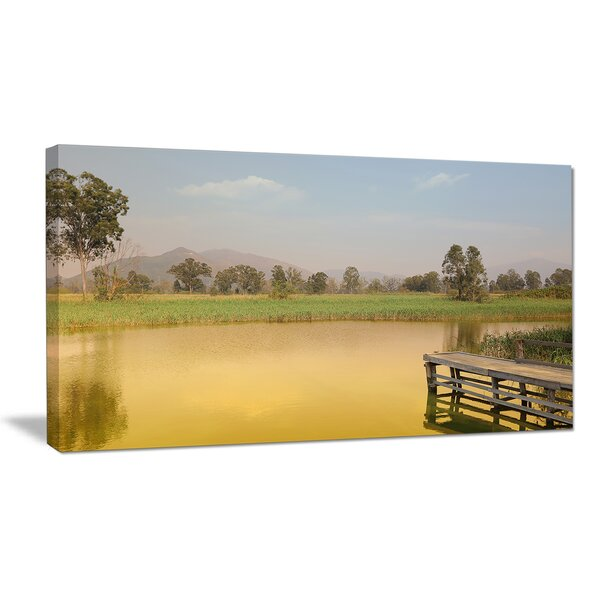 Yellow Wetland of Nam Sang Wai Photographic Print on Wrapped Canvas by Design Art