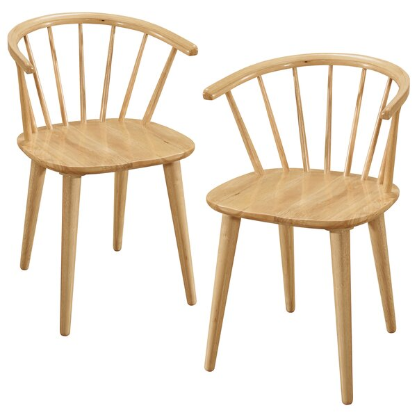 Dania Solid Wood Dining Chair (Set of 2) by Charlton Home