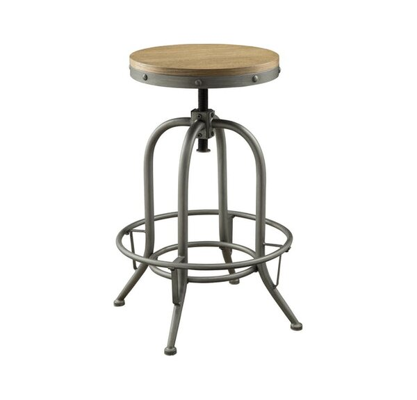 Little Italy Adjustable Height Swivel Bar Stool (Set of 2) by 17 Stories