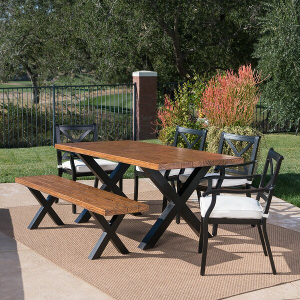 Stills Outdoor 6 Piece Dining Set with Cushions by Gracie Oaks