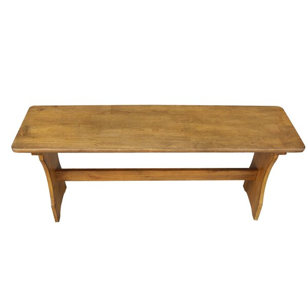 Ledezma Wood Bench by August Grove August Grove