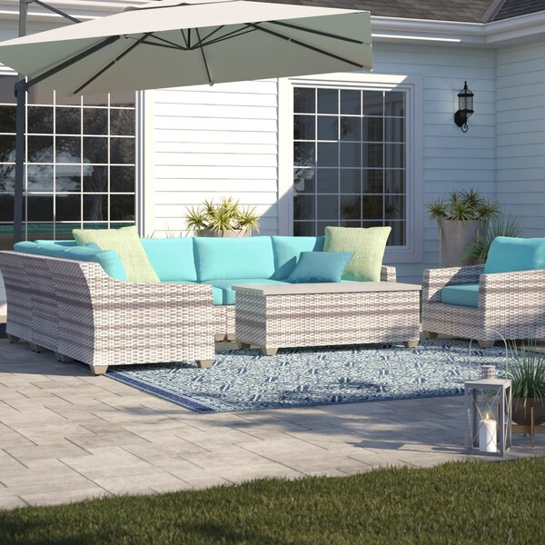 Falmouth 8 Piece Sectional Seating Group with Cushions by Sol 72 Outdoor