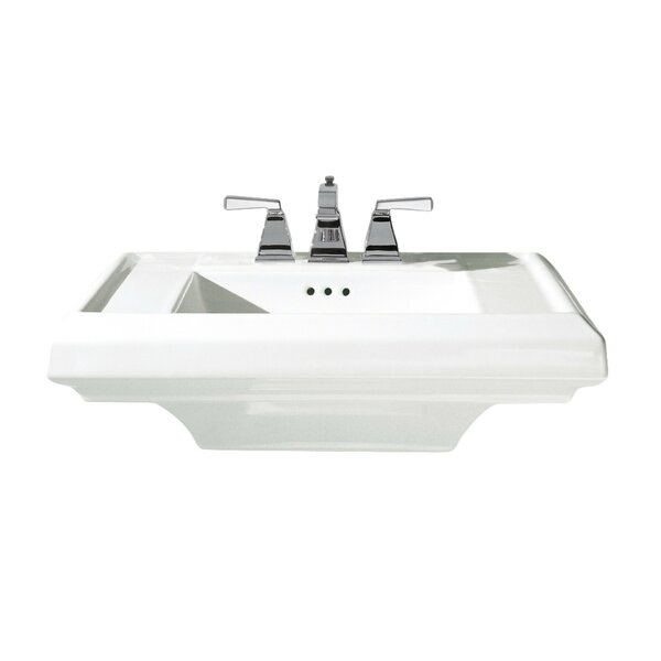 Town Square 24 Pedestal Bathroom Sink with Overflo