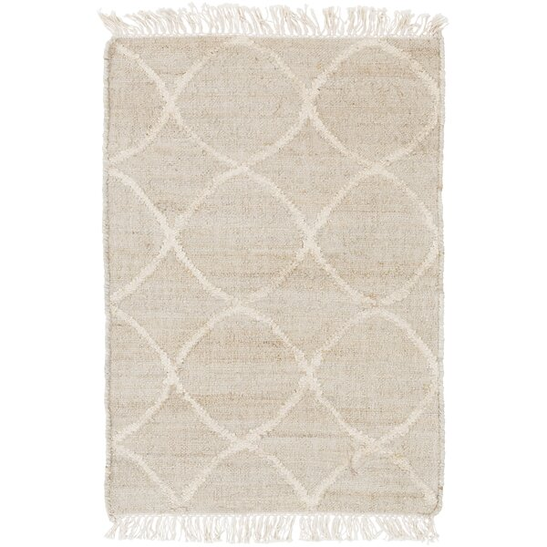 Ravenstein Hand-Woven Beige Area Rug by Bungalow Rose
