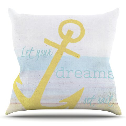 Let Your Dreams Set Sail by Alison Coxon Outdoor Throw Pillow by East Urban Home