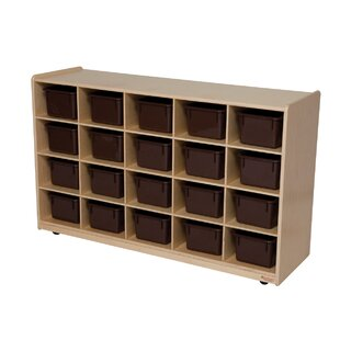 Natural Environment 20 Compartment Cubby with Casters ByWood Designs