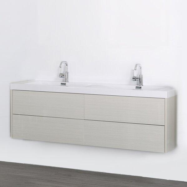 63 Wall-Mounted Double Bathroom Vanity Set by Streamline Bath