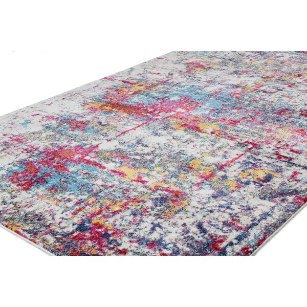 Huissen Pink/Blue Area Rug by Brayden Studio