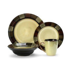 Taos Everyday 16 Piece Dinnerware Set, Service for 4