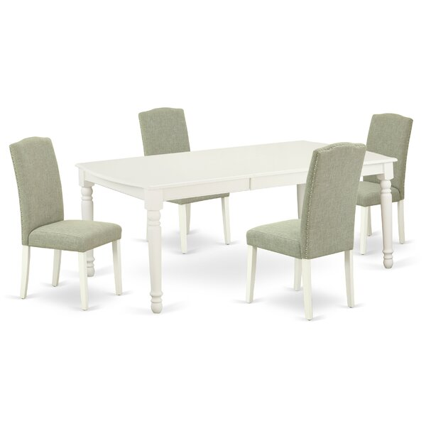 Terese 5 Piece Extendable Solid Wood Dining Set by Alcott Hill Alcott Hill