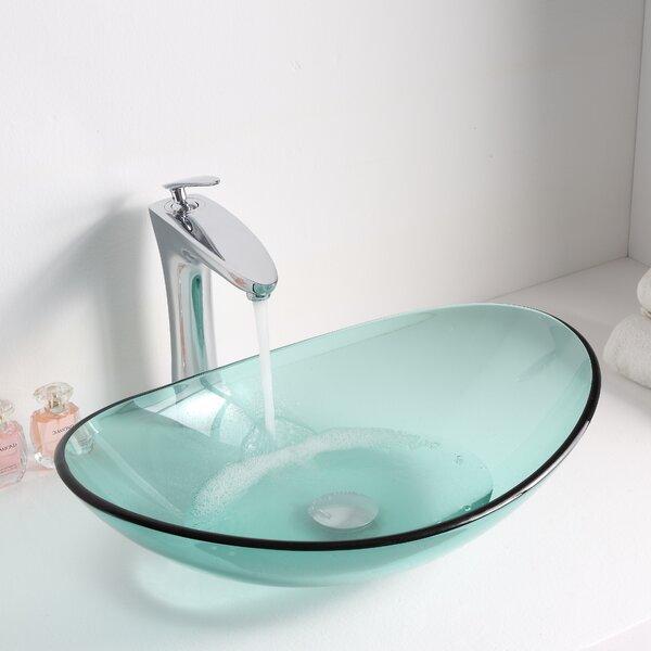 Major Glass Oval Vessel Bathroom Sink by ANZZI
