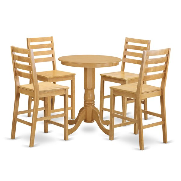 5 Piece Counter Height Pub Table Set By Wooden Importers Best