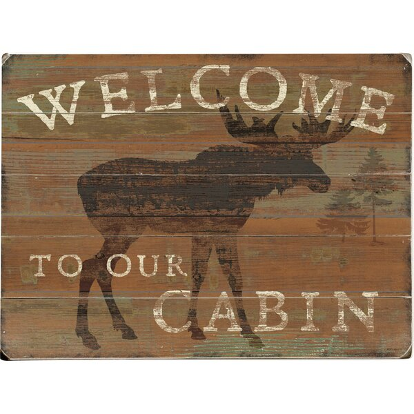 Welcome Cabin Graphic Art Print Multi-Piece Image on Wood by Artehouse LLC