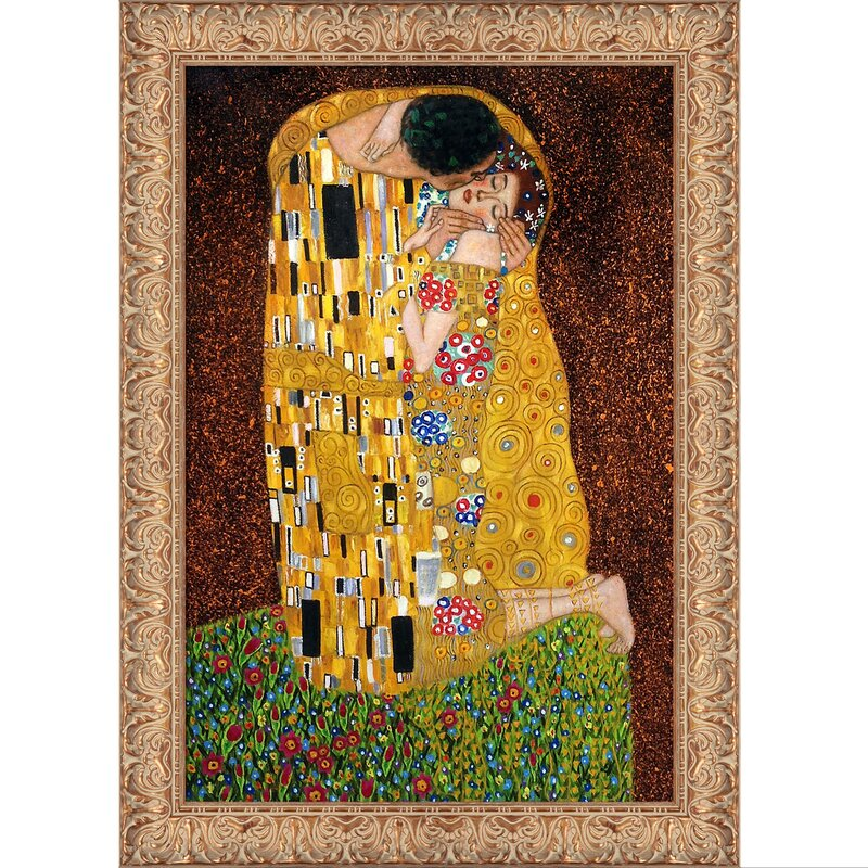 Tori Home The Kiss Full View\' by Gustav Klimt Framed Painting on ...