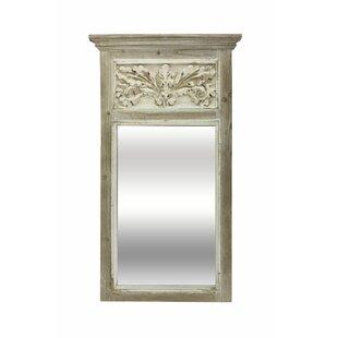One Allium Way Anissa Carved Trumeau Accent Mirror