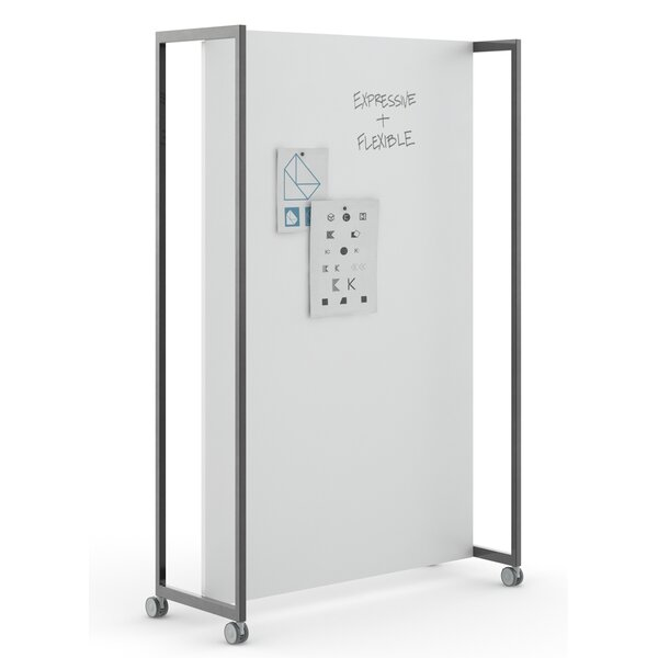 Free-Standing Whiteboard, 75 x 48 by Kimball