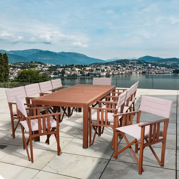 Turcotte International Home Outdoor 11 Piece Dining Set by Highland Dunes