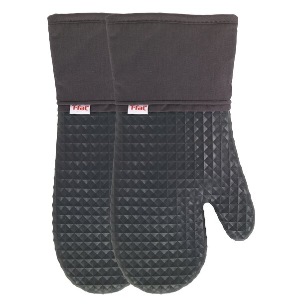 Waffle Silicone Oven Mitt (Set of 2) by T-fal