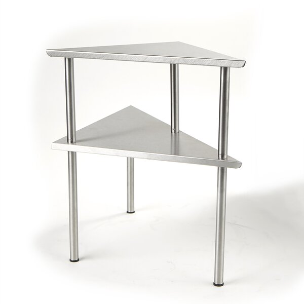 2 Tier Kitchen Corner Rack Prep Table by Mind Reader