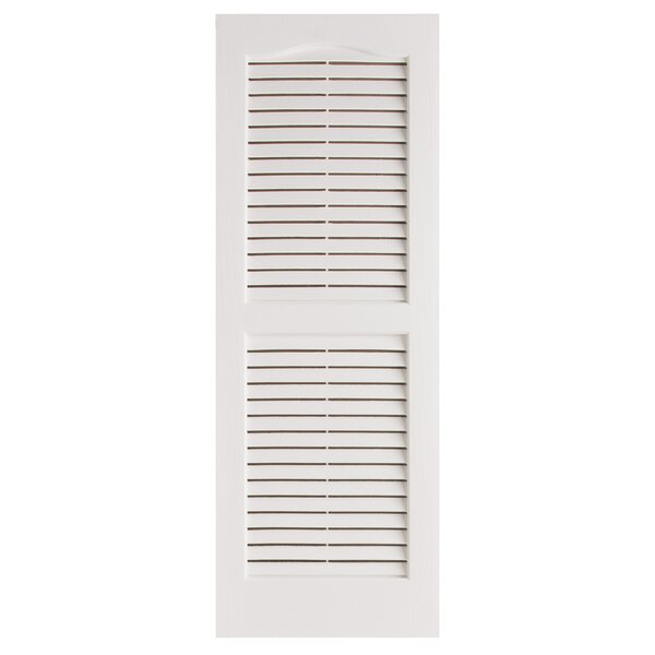 Exterior 14 x 51 Louvered Shutter (Set of 2) by Alpha Shutters