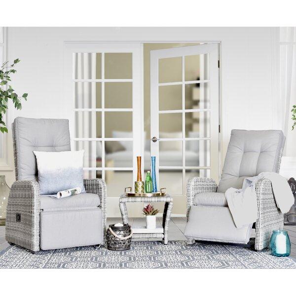 Vallauris 3 Piece Conversation Set with Cushions by Elle Decor Elle Decor