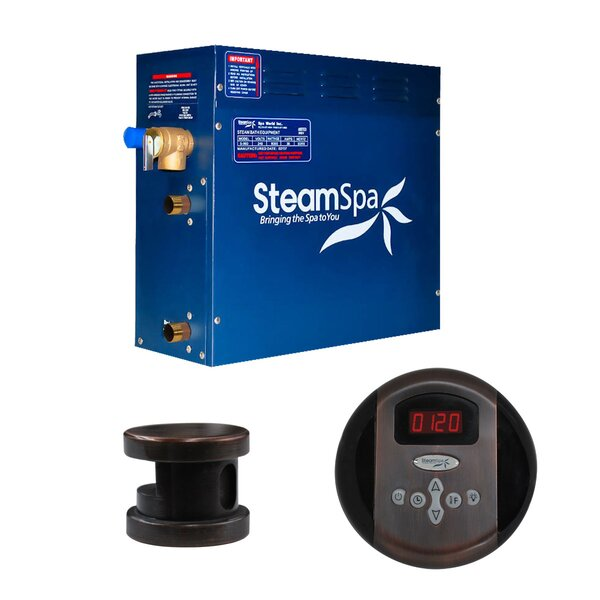 SteamSpa Oasis 4.5 KW QuickStart Steam Bath Generator Package in Oil Rubbed Bronze by Steam Spa