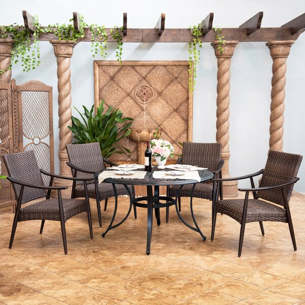 Stanton Outdoor 5 Piece Dining Set by Canora Grey