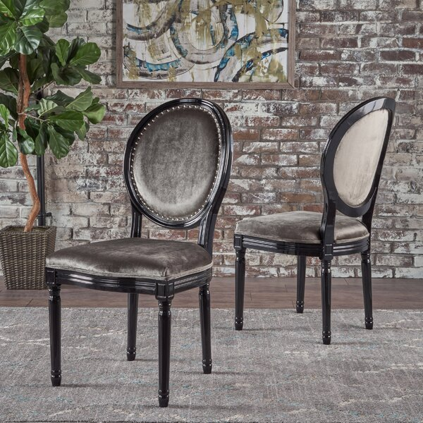 Chambray Upholstered Dining Chair (Set of 2) by Rosdorf Park