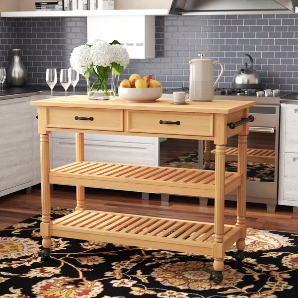 Fitzhugh Kitchen Cart by Three Posts