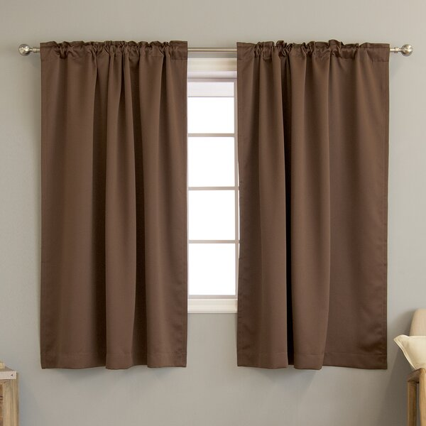 Sweetwater Room Darkening Solid Thermal Curtain Panels (Set of 2) by Beachcrest Home