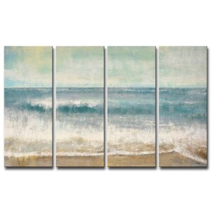 Beach Memories by Norman Wyatt Jr. 4 Piece Painting Print on Wrapped Canvas Set by Ready2hangart