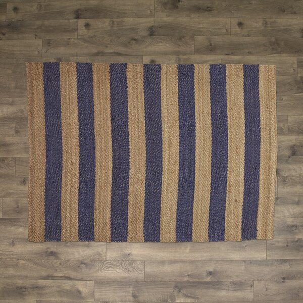 Haywood Hand-Woven Navy Area Rug by Birch Lane™