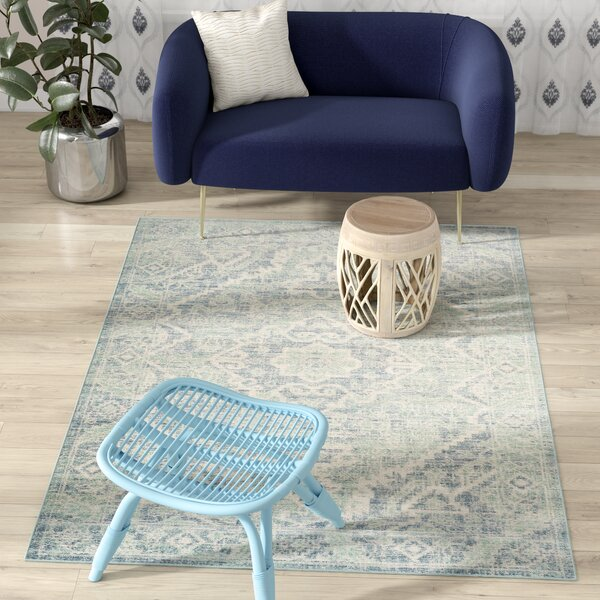 Chauncey Seafoam / Blue Area Rug by Bungalow Rose