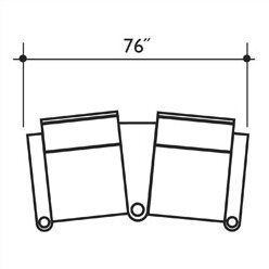 Signature Series Barcelona Home Theater Row Seating (Row Of 2) By Bass