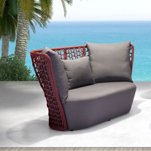 Baylee Beach Loveseat with Cushions by Brayden Studio