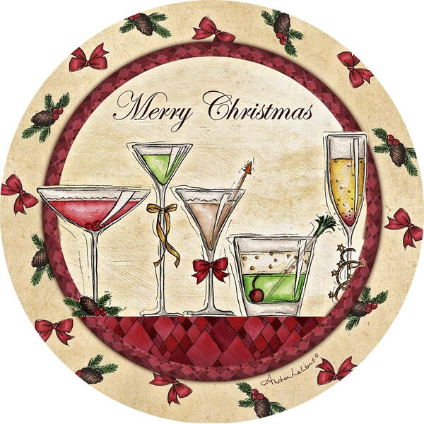 Merry Christmas Occasions Coastersktails Occasions Coaster (Set of 4) by Thirstystone