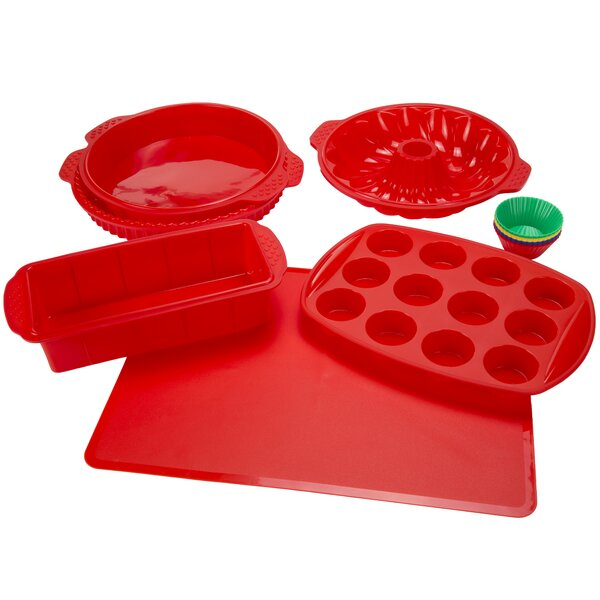 Non-Stick 18 Piece Silicone Bakeware Set by Classic Cuisine