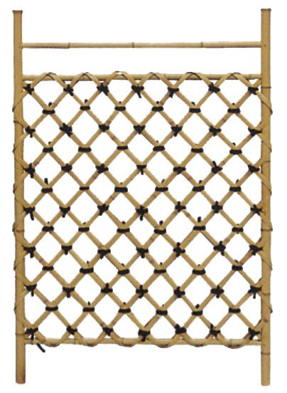 Wood Lattice Panel Trellis by Oriental Furniture