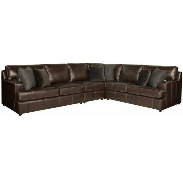Winslow Leather Modular Sectional by Bernhardt