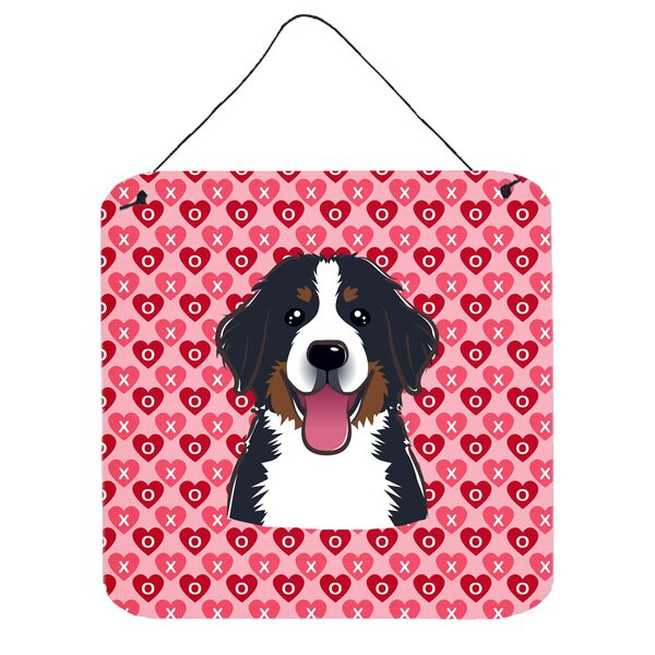 Bernese Mountain Dog Hearts Wall Décor by East Urban Home