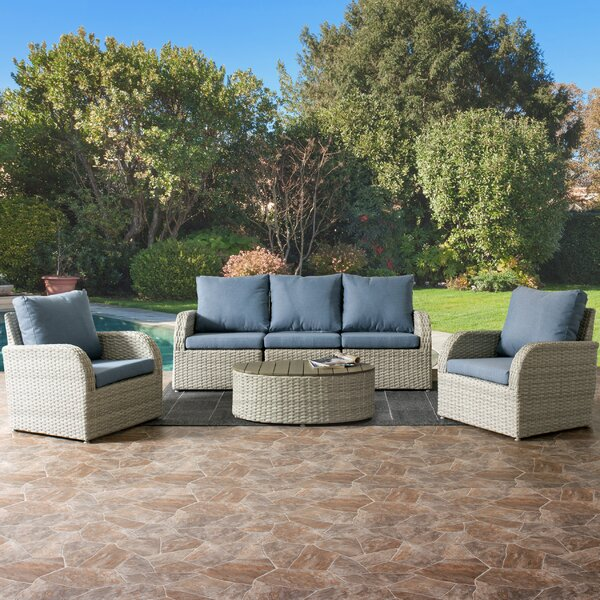 Costanzo 6 Piece Sectional Set with Cushions by Rosecliff Heights