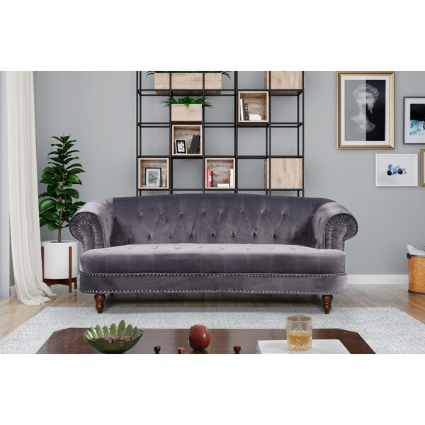 Last Trendy Lambdin Chesterfield Sofa by Mercer41 by Mercer41