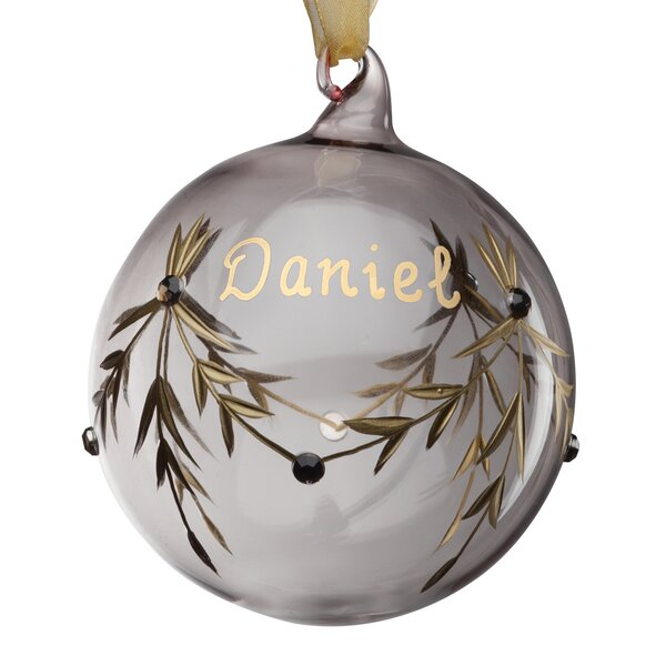 April Birthstone Personalized Ball Ornament by The Holiday Aisle