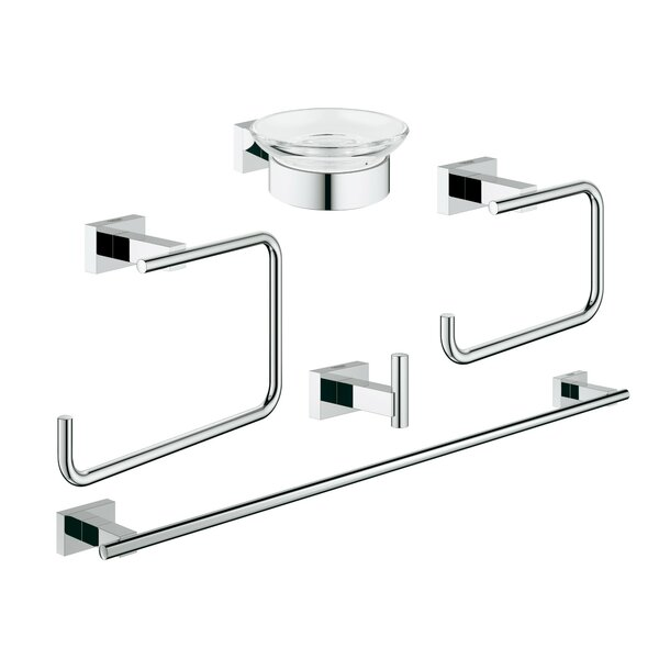 Essentials 5 Piece Bathroom Hardware Set by Grohe