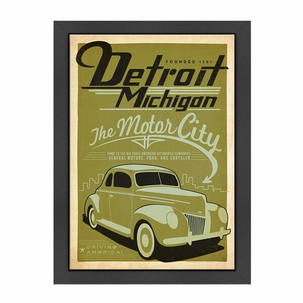 Detroit Framed Vintage Advertisement by East Urban Home