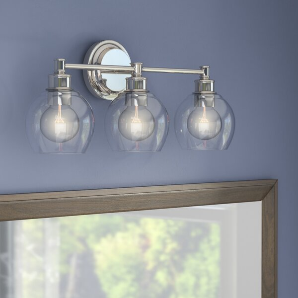 Maria 3-Light Vanity Light with Clear Glass by Langley Street